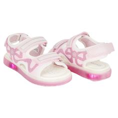 Босоножки Geox J Sandal Blikk Girl, цвет: розовый