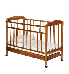 Кровать-качалка ИП Смирнов Женечка-2, цвет: орех