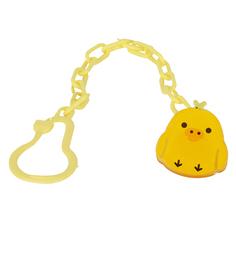 Цепочка Бусинка С прищепкой, цвет: желтый