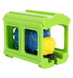 Игровой набор Chuggington Паровозик Брюстер с гаражом 9 см