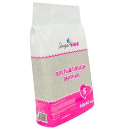 Пеленки ЭлараKids впитывающие 60 х 40 см, 5 шт