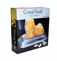 Головоломка 3D Crystal Puzzle Лев цвет: желтый