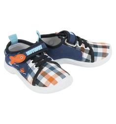 Туфли текстильные Котофей, цвет: оранжевый/синий