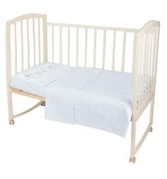 Комплект постельного белья Baby Nice Ежик, цвет: белый