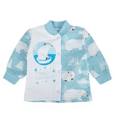 Кофта Babyglory Волшебные моменты, цвет: голубой
