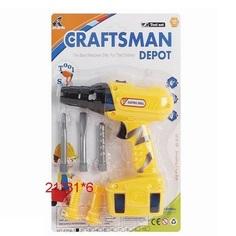 Игрушечная дрель Наша Игрушка Craftsman Depot с насадками