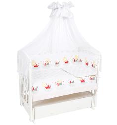 Комплект постельного белья Leader Kids Мишка в кораблике 7 предметов бортик (180 х 40 см), цвет: серый