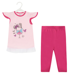 Комплект футболка/бриджи Koala Magiczna wrozka, цвет: розовый