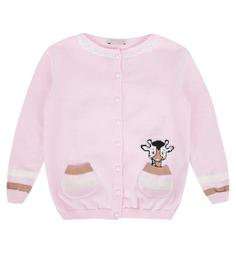 Кофта Eddy Kids, цвет: розовый/коричневый