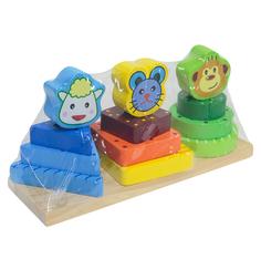 Деревянная игрушка Игруша Пирамидка 21.5 см