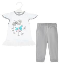 Комплект футболка/бриджи Koala Magiczna wrozka, цвет: белый