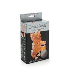 Головоломка 3D Crystal Puzzle Мишка янтарный цвет: желтый