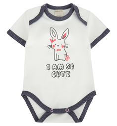 Боди Lucky Child Милые кролики, цвет: белый