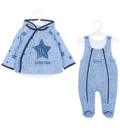 Комплект куртка/полукомбинезон Карапузик Джинс, цвет: синий