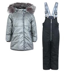 Комплект куртка/полукомбинезон Artel, цвет: серебряный