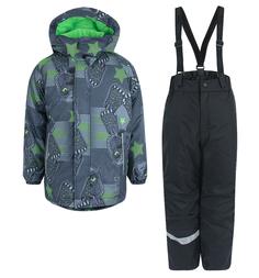 Комплект куртка/брюки Lassie, цвет: зеленый