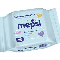 Влажные салфетки Mepsi, 20 шт