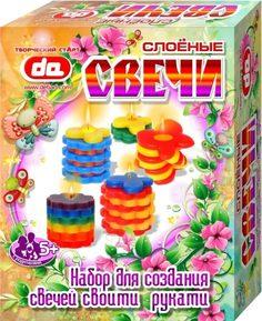 Набор для создания слоеных свечей DetiArt Бабочки-цветочки
