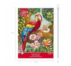 Альбом для рисования А4 20л ArtBerry Попугай