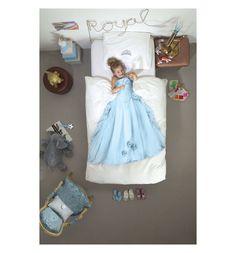 Комплект постельного белья Snurk Принцесса, цвет: белый/голубой 2 предмета