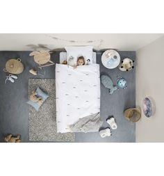 Комплект постельного белья Snurk Полярные друзья, цвет: белый/серый 2 предмета