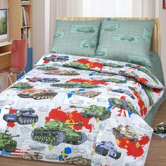 Комплект постельного белья Артпостель Танки, цвет: серый 3 предмета