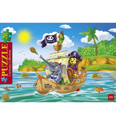 Пазл Hatber Cartoon Collection Забавные пираты