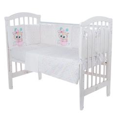 Комплект постельного белья Leader Kids Совенок Комплект постельного белья 15 предметов наволочка 60 х 40 см, цвет: розовый