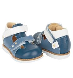 Туфли Tapiboo Василек, цвет: белый/синий
