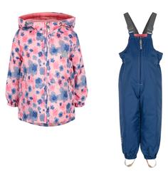 Комплект куртка/полукомбинезон Saima, цвет: розовый/синий