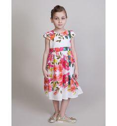 Платье Sweet Berry Нарядные платья, цвет: белый/розовый