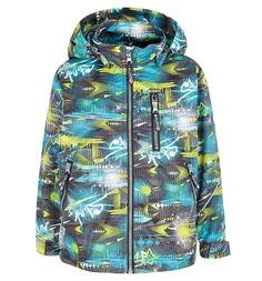 Куртка Saima, цвет: серый/салатовый