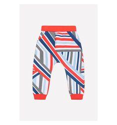 Брюки Crockid Sport inspired, цвет: белый/красный