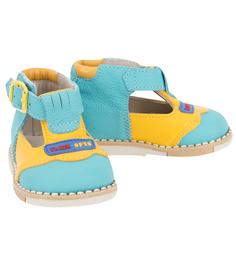 Туфли Таши Орто, цвет: голубой/желтый