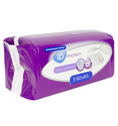 Пеленки iD Protect Одноразовые впитывающие 60 х 90 см, 10 шт