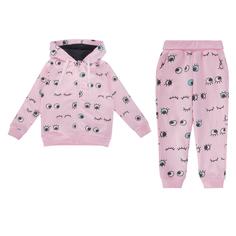 Комплект толстовка/брюки Crockid Mini movement, цвет: розовый