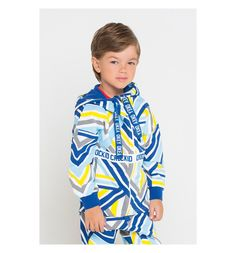 Толстовка Crockid Sport inspired, цвет: белый/синий