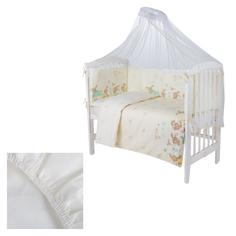 Комплект постельного белья Leader Kids Кролики 7 предметов, цвет: молочный