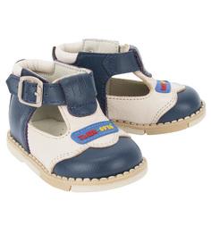 Туфли Таши Орто, цвет: синий/бежевый