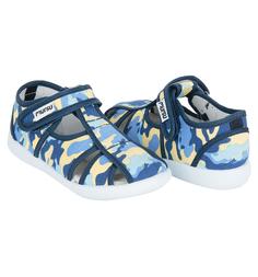 Туфли текстильные Mursu, цвет: голубой/синий