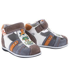 Туфли Elegami, цвет: серый/белый