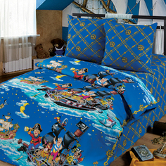 Комплект постельного белья Артпостель Пираты, цвет: синий 3 предмета