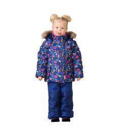Комплект куртка/полукомбинезон Premont Ягоды и цветы Паслен, цвет: синий