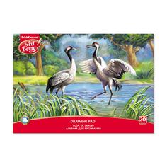 Альбом для рисования А4 20л ArtBerry на клею Экзотические птицы