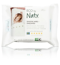 Влажные салфетки Naty, 20 шт