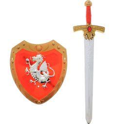 Набор игрушечного оружия Играем Вместе Три богатыря Меч и щит