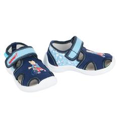 Туфли текстильные Котофей, цвет: голубой/синий