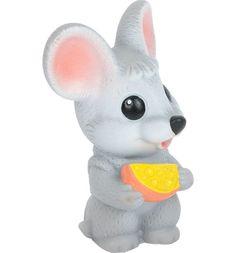 Игрушка Огонек Мышонок с сыром 10 см ОГОНЕК.