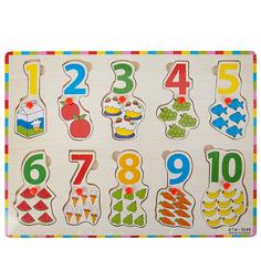 Деревянная обучающая игра Игруша Цифры 30 см