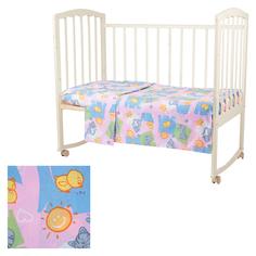 Комплект постельного белья Baby Nice Котята и цыплята, цвет: розовый 3 предмета